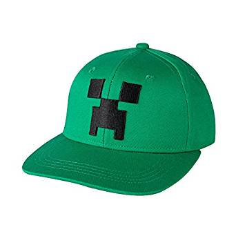 Baseball Cap - Minecraft - Creeper Face Green Snap-Back (Flame Snap Cap)