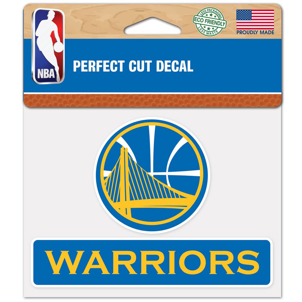 """Golden State Warriors WinCraft 4"""" x 5"""" Perfect Cut Decal - No Size"""
