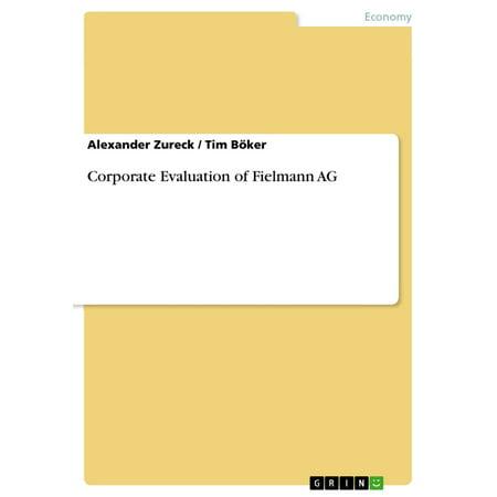 Corporate Evaluation of Fielmann AG - eBook (Fielmann Marken)