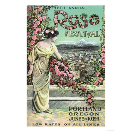 Portland, Oregon - Fifth Annual Rose Festival Advertisement   By Lantern Press (Halloween Festivals Portland Oregon)