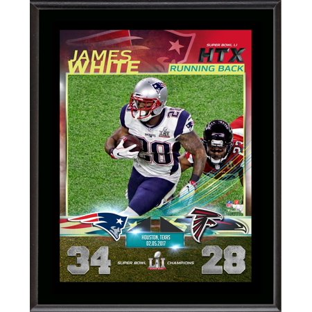 save off 02727 38dc0 James White New England Patriots 10.5'' x 13'' Super Bowl LI Champions  Sublimated Plaque