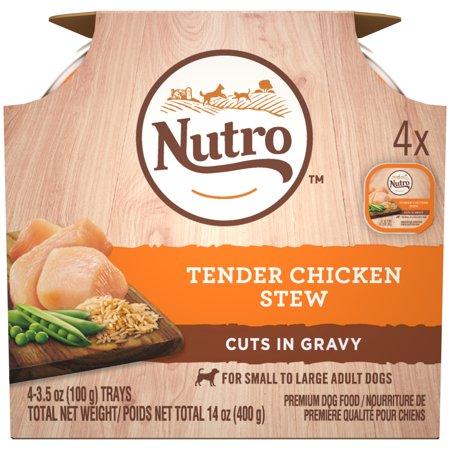 (11 Pack) NUTRO Wet Dog Food Cuts in Gravy Multipack, Tender Chicken Stew, (12) 3.5 oz. Trays