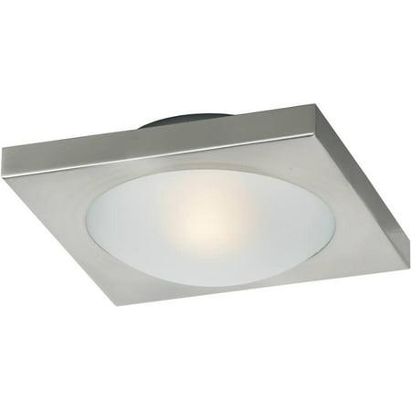 8w Piccolo 1-Light Xenon Flush/Flush Mount Fixture Satin Nickel