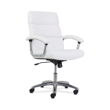 HON Traction High-Back Modern Executive Chair - Leather Computer Chair for Office Desk, White (HVL103) ()