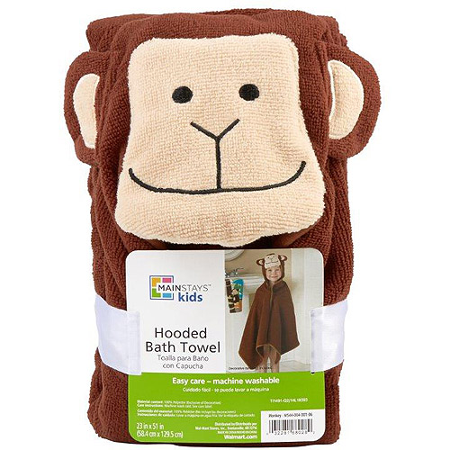 Mainstays Monkey Hooded Towel