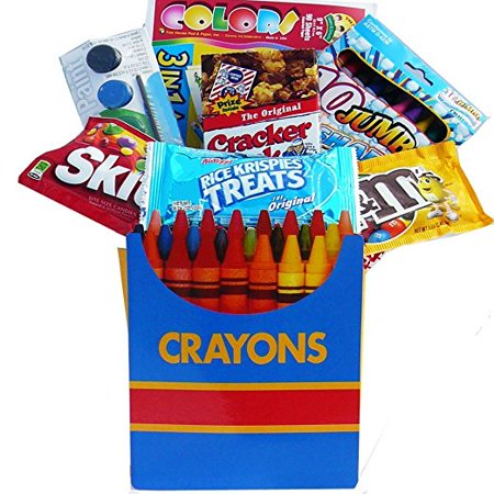 Color Me Crazy Playtime Snacks and Activity Gift Bag Set