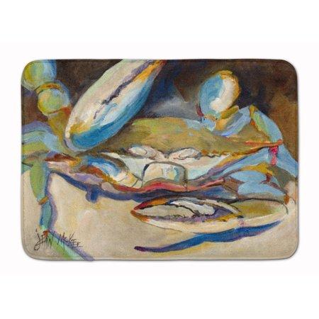 Big Crab Claw Blue Crab Machine Washable Memory Foam Mat JMK1099RUG