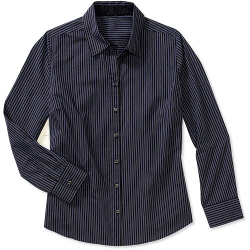 0686f43fe66 George - George Women s Plus-Size Core Button-Down Shirt with ...