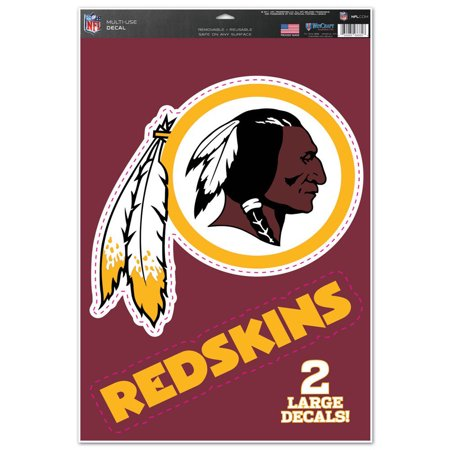 "Washington Redskins WinCraft 11"" x 17"" Name & Logo Multi-Use Decal Sheet - No Size"