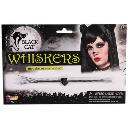 Realistic Cat Whiskers Halloween (Black Cat Whiskers - Adult One)