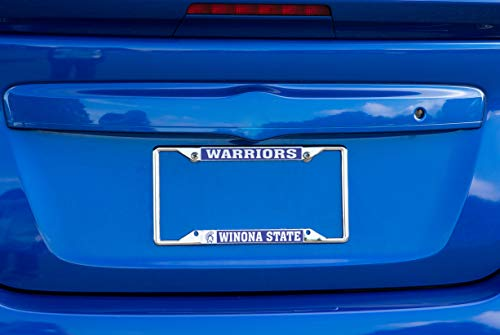 Desert Cactus Winona State University Warriors NCAA Metal License Plate Frame for Front Back of Car Officially Licensed Alumni