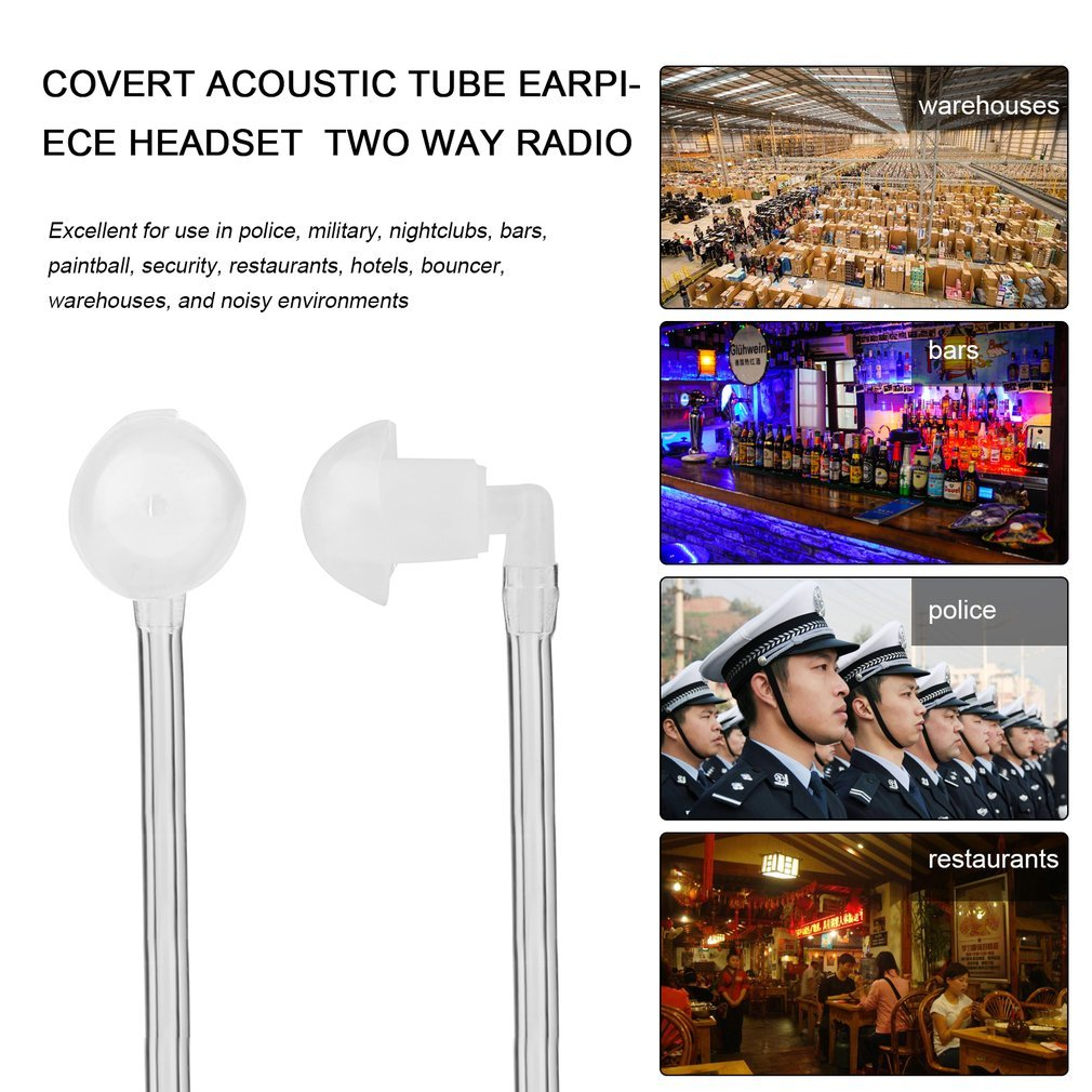 Halloween Sale Covert Acoustic Tube Earpiece Headset for Motorola Gp328 on