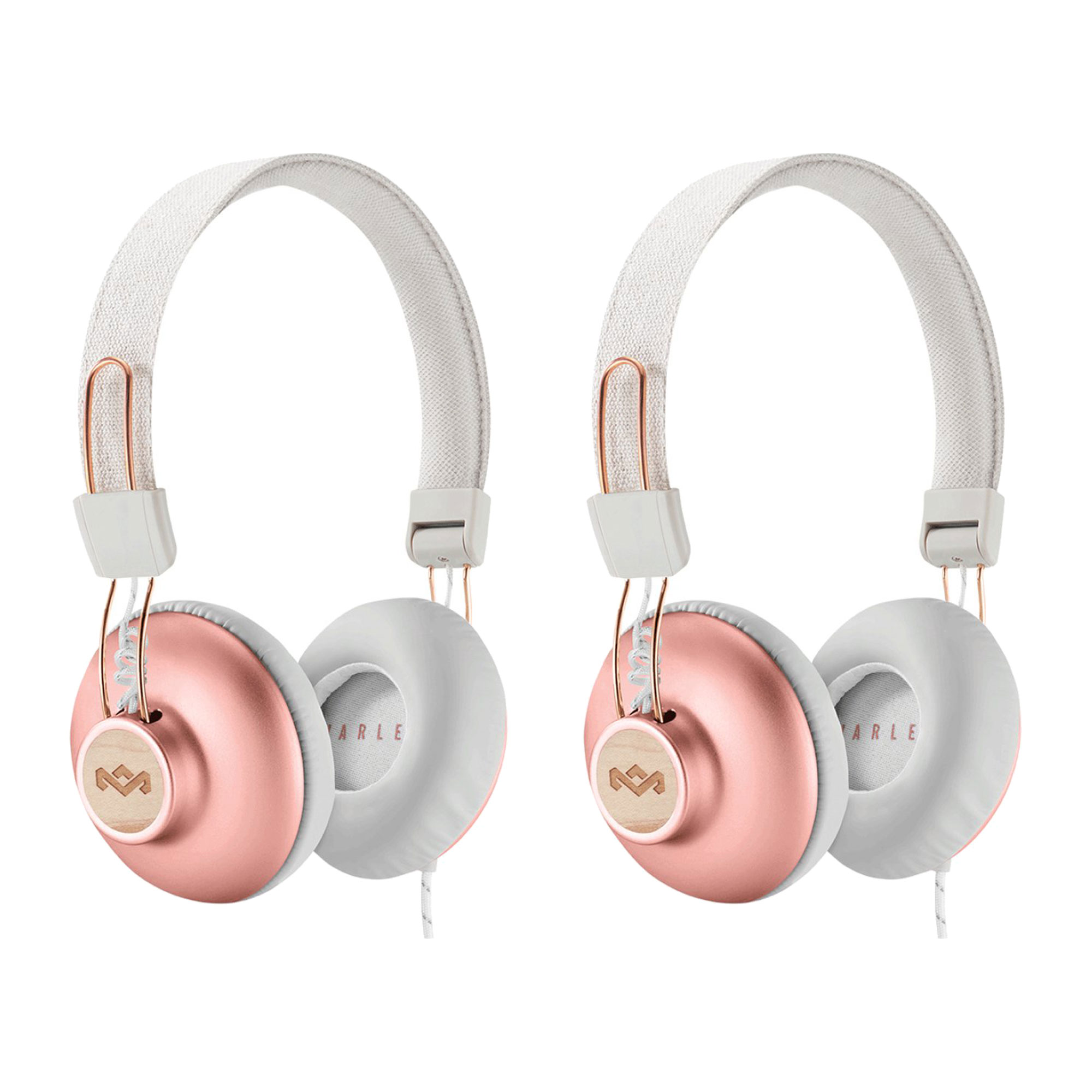 House of Marley Positive Vibration 2 On Ear Wired Headphones, Copper (2 Pack)