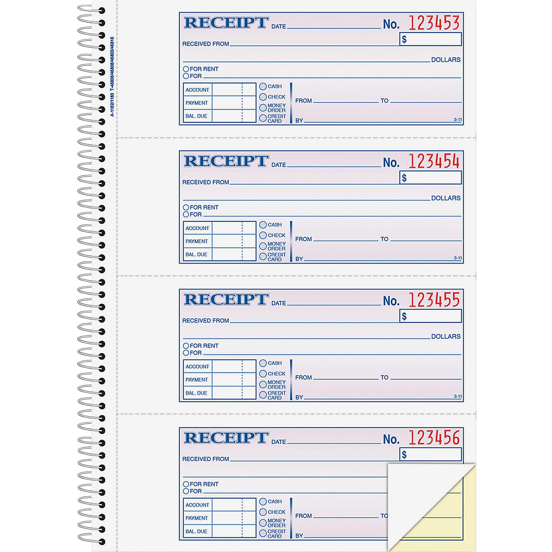Adams Wirebound Money/Rent Receipt Books
