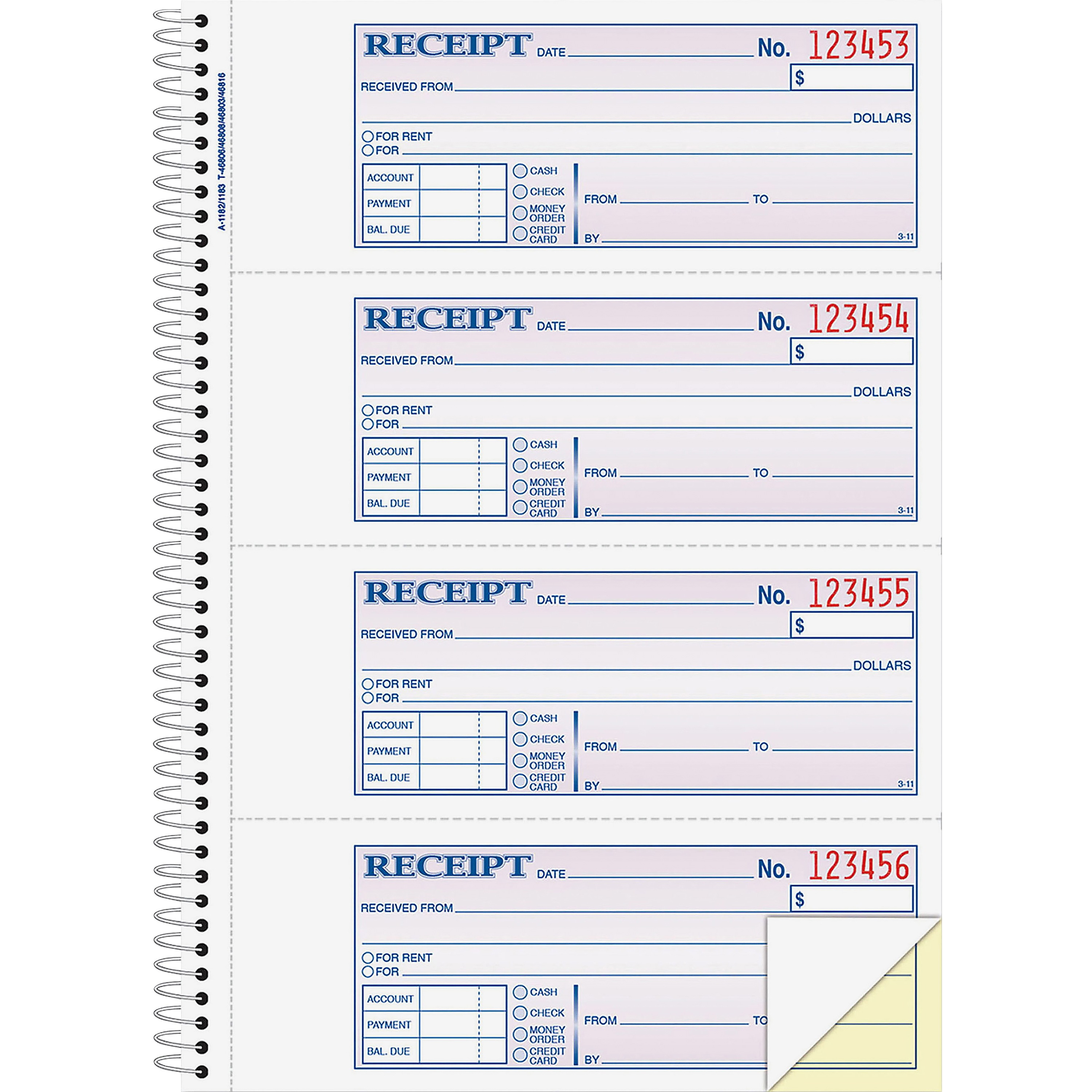 Adams Wirebound Money/Rent Receipt Books