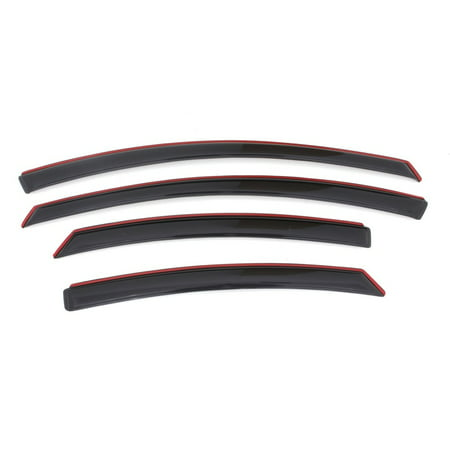 Smoke Front Deflectors - AVS 11-14 Hyundai Sonata Ventvisor In-Channel Front & Rear Window Deflectors 4pc - Smoke