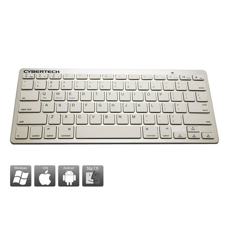 CyberTech Bluetooth Ultra-Thin Keyboard for iPad Air/ Air 2,iPad Pro,iPad mini 1/ 2/ 3/ 4,iPad 2/ 3/ 4, Galaxy Tablets,Windows Tablets,and Other Mobile Devices,For IOS,Andriod,Windows