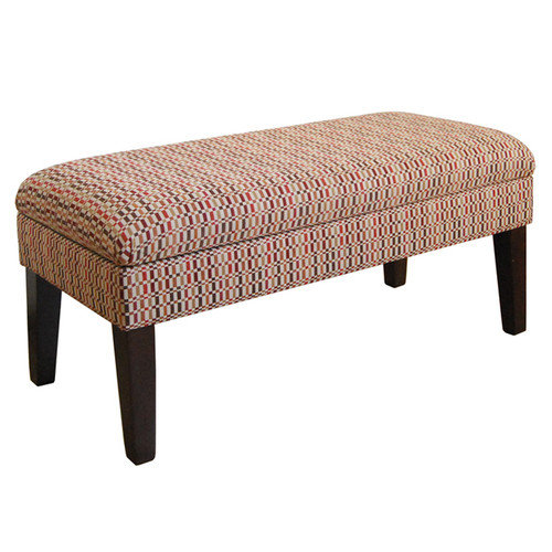 Kinfine USA Decorative Geometric Storage Bench