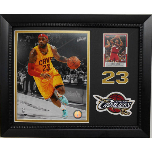 NBA 11x14 Card/Patch Frame, LeBron James Cleveland Cavaliers
