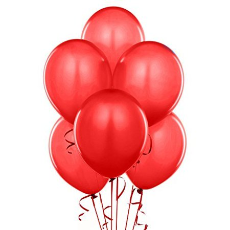 Qualatex Biodegradable 11 Inch Helium Quality Red Balloons (Package of 100) (Red Heart Helium Balloons)