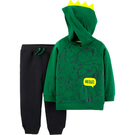 Top Gun Outfit (Hooded Long Sleeve Graphic Top & Jogger Pants, 2-Piece Outfit Set (Toddler)