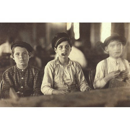 Young Cigarmakers Three Young Boys At Work In A Cigar Making Factory History](Its A Boy Cigars)