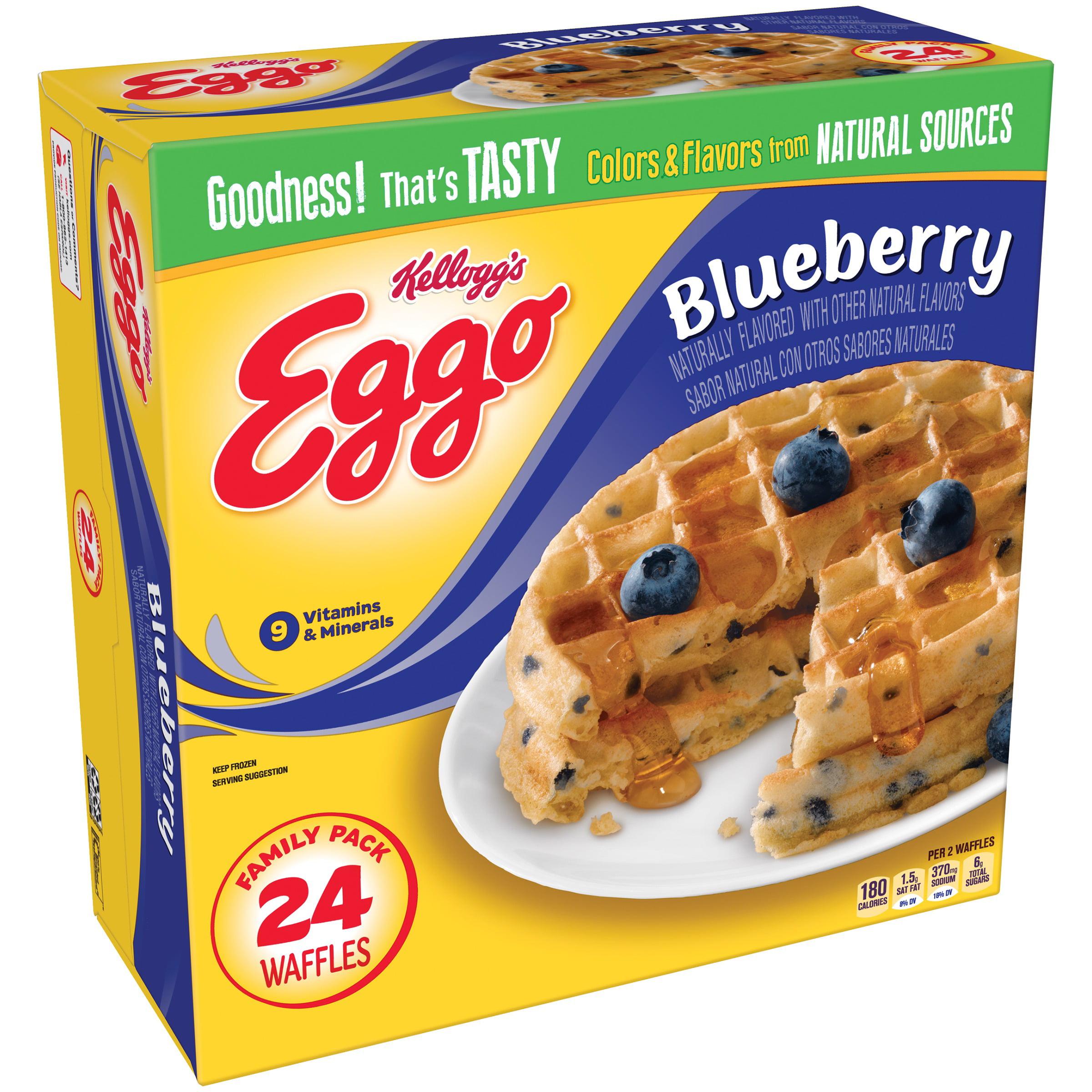 Kellogg's Eggo Blueberry Waffles 24 ct Box