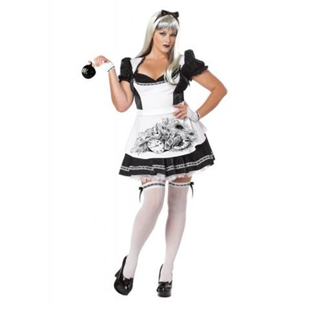 Quick Alice In Wonderland Costume (Dark Alice In Wonderland Adult)