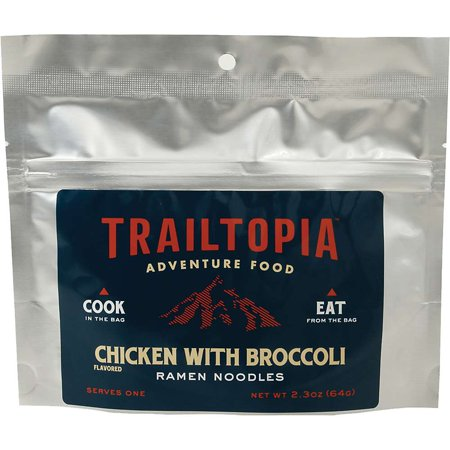 Trailtopia Ramen Noodles Chicken flavored with (Angel Hair Pasta With Chicken And Broccoli)