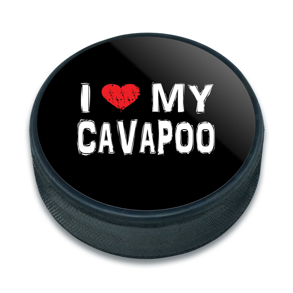 Cavapoo Ice Hockey Puck