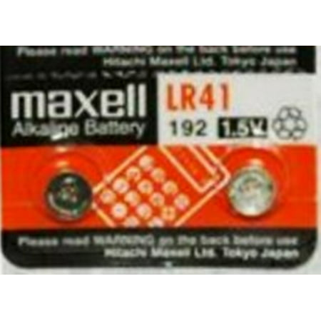 Maxell LR41 - 192 Alkaline Button Battery 1.5V - 2 (Maxell Alkaline Button)
