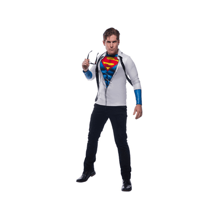 Mens Photo Real Superman Halloween Costume Top - Superman Different Costumes