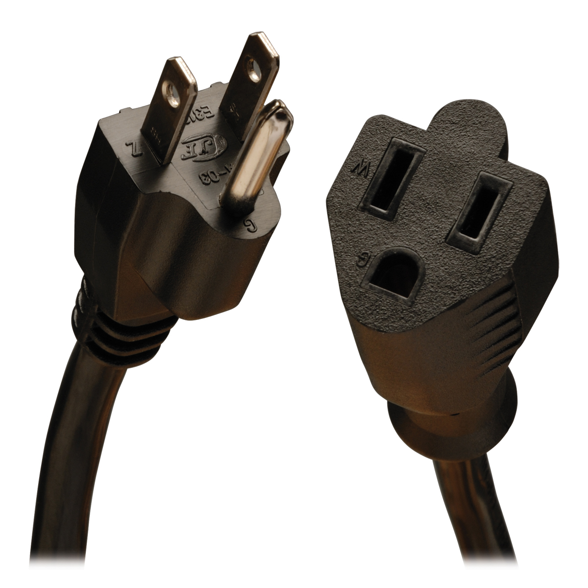 Tripp Lite P024-003 3ft Heavy Duty Power Ext Cord Cabl 14awg 15a 120v 5-15r To 5-15p 3