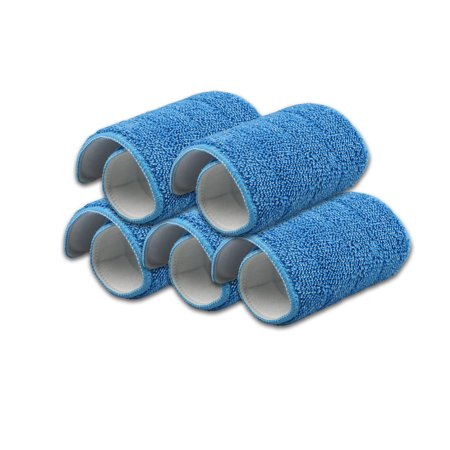 5-pack Replacement Washable Blue Microfiber Mop Cleaning Pads for 15