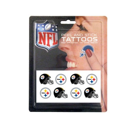 NFL Pittsburgh Steelers Set Tattoo, 8 pièces
