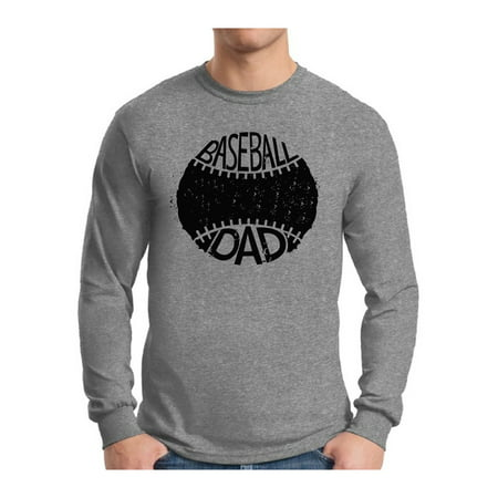 Baseball Homecoming Ideas (Awkward Styles Men's Baseball Dad Sport Lover`s Graphic Long Sleeve T-shirt Tops Black Father's Day Gift)