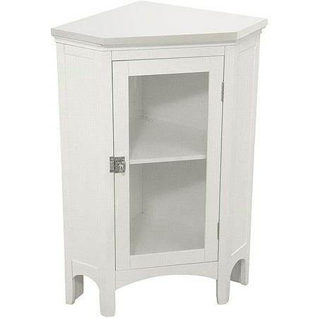 Corner Floor Cabinet White