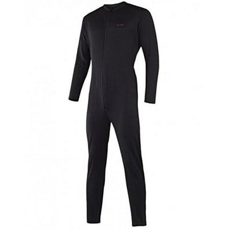 Terramar Sports Men's Military Fleece Unionsuit S Black ()