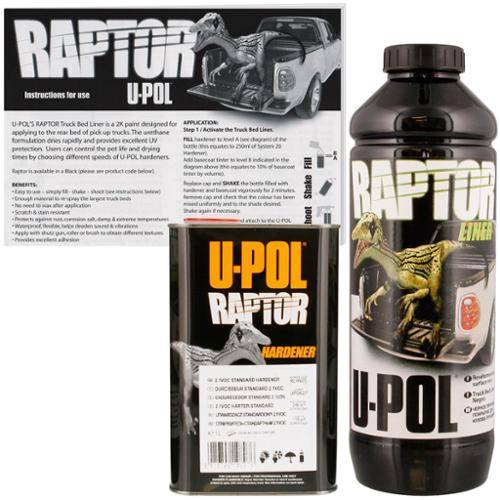 U POL Raptor Black Urethane Spray-On Truck Bed Liner & Te...