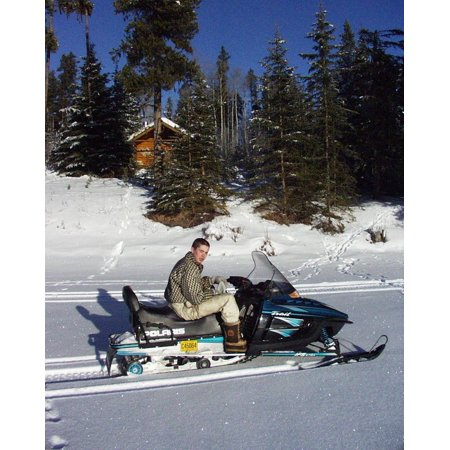 Mobile Body (Canvas Print Sport Winter Boy Fun Transportation Snow Mobile Stretched Canvas 10 x)