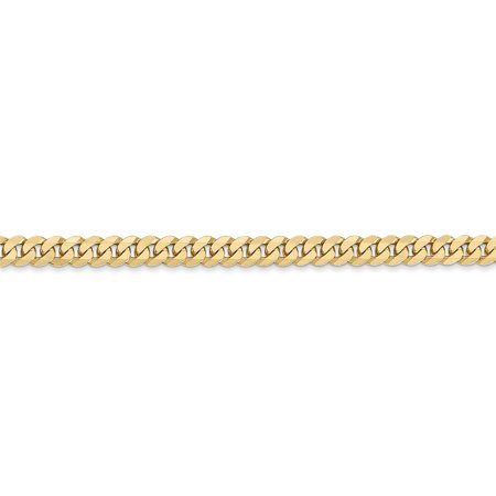 14K Yellow Gold 3.9mm Beveled Curb Chain - image 3 of 5