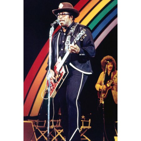 Bo Diddley 24X36 Poster Rainbow On Stage Concert Guitar Cool ()