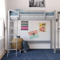 Deals on Your Zone Kids Wooden Loft Bed with Ladder Twin