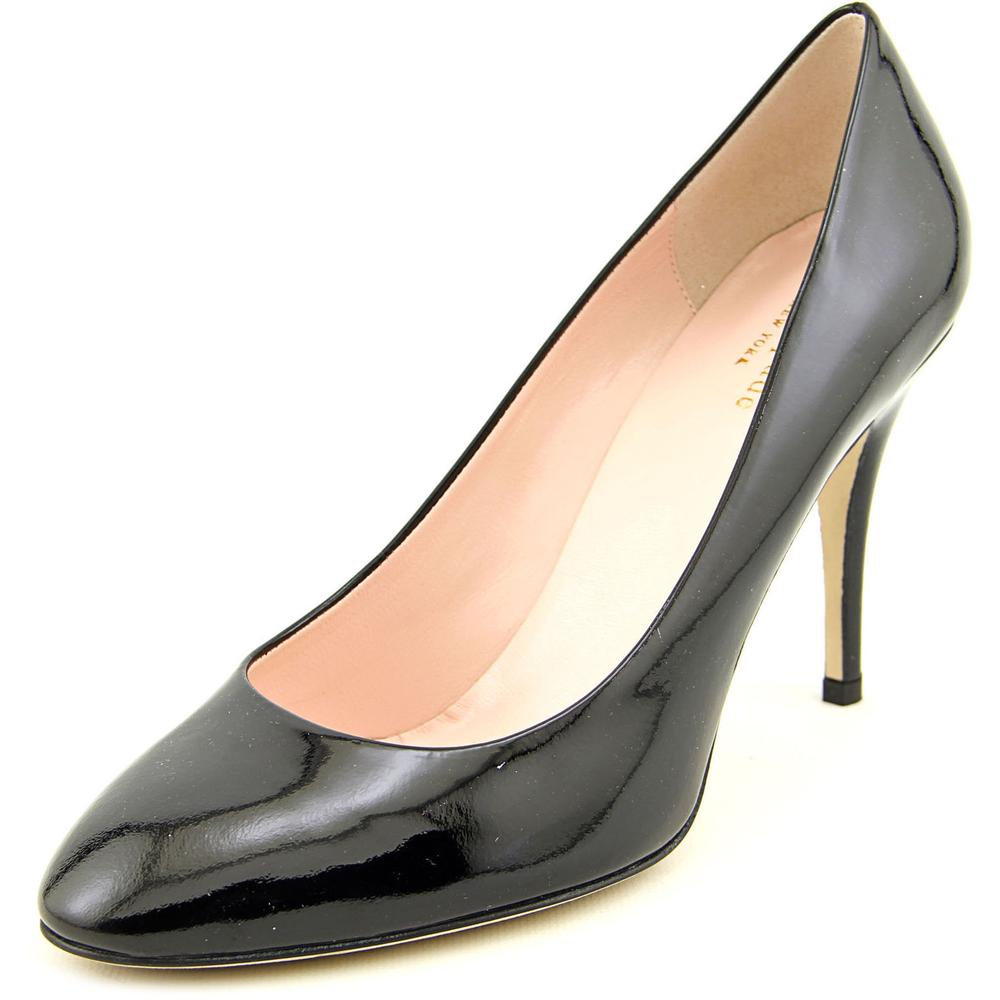 Kate Spade Dani Women Round Toe Patent Leather Black Heels by kate spade