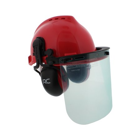 Forestry & Construction Safety Helmet – Vented Hard Hat with Visors & Earmuffs (Themed Hard Hats)