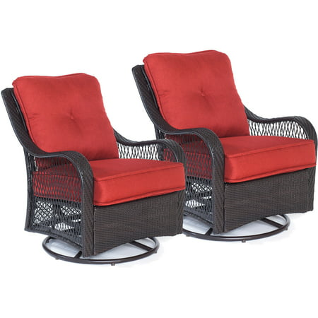 Carolina Factory Direct Morrow Swivel Gliding Chairs in Autumn Berry - Set of Two ()