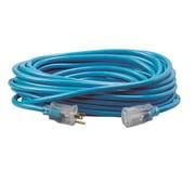 D11710100BL - EXTENSION CORD 3/10 100FT BLUE SJTW LIGHTED ENDS 15A 125V -40F