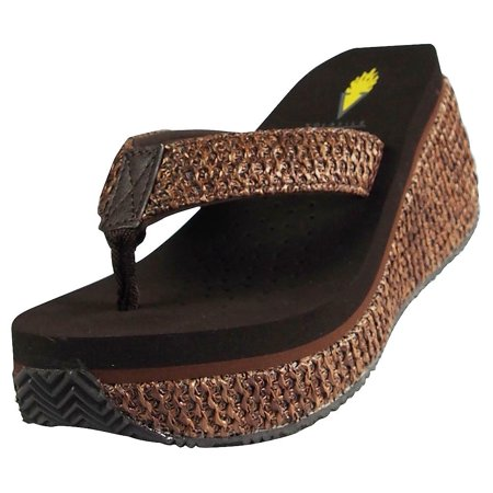 Volatile Womens Island Wedge Sandal BROWN / 9 B(M) - Volatile Brown Sandals