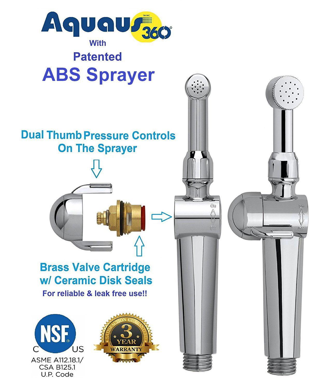 Rinseworks Patented Aquaus 360 Bidet Hand Held Bidet W Dual