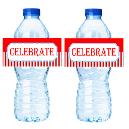 Carnival Circus 15ct Water Bottle Party Decorations Stcker Labels -Celebrate (Cheap Carnival Decorations)